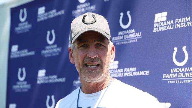 Colts  coach Frank Reich talks as minicamp ends