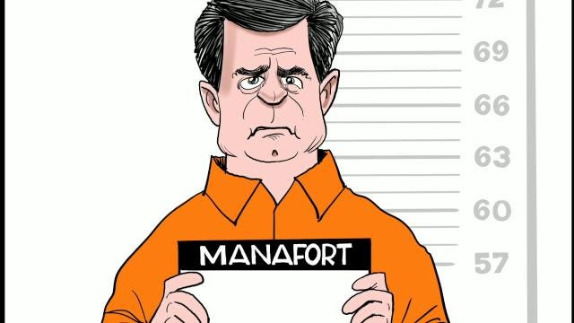 Watch Gary Varvel's time lapse video of his Paul Manafort cartoon.