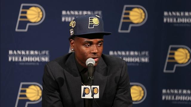 Indiana Pacers introduce first-round draft pick Aaron Holiday