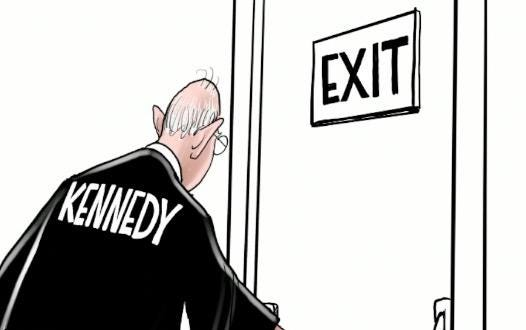 Watch Gary Varvel's time lapse video as he draws the reaction to Justice Anthony Kennedy's retirement.