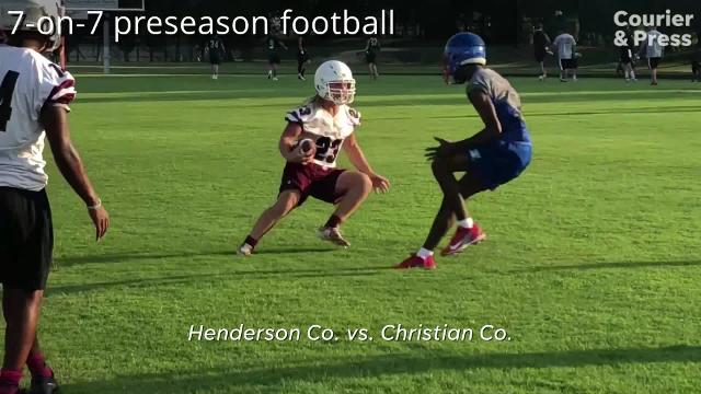 Henderson Co. participated in 7-on-7 games with Owensboro Catholic, Madisonville and Christian County on Thursday at Colonel Stadium. Preseason practice resumed Tuesday after the end of the dead period and the season starts Aug. 17 as the Colonels host Reitz.
