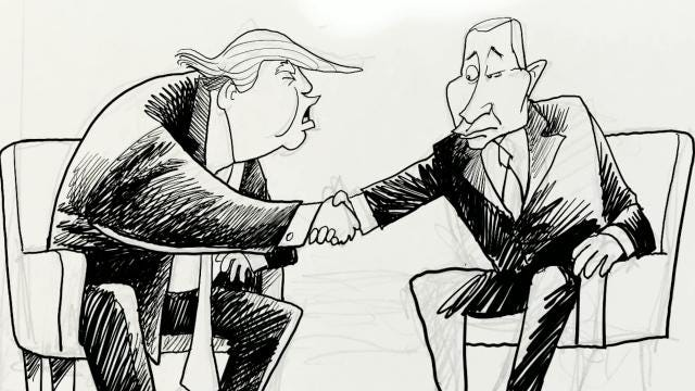 Watch Gary Varvel's time lapse video of his cartoon of Trump and Putin's meeting.