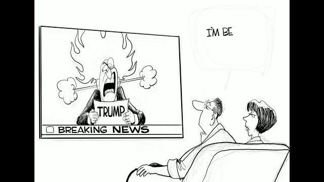 Watch Gary Varvel's time lapse video of his Trump coverage cartoon