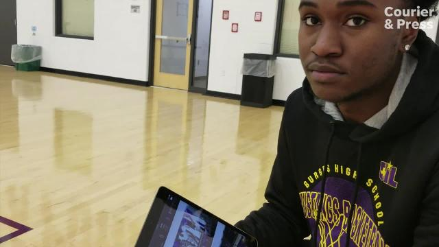 University of Evansville basketball freshman Jawaun Newton talks about the new iPads the program has implemented this season to break down practice and game film on the go.