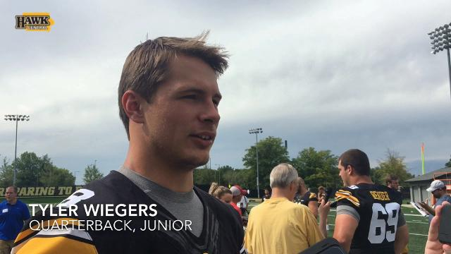Tyler Wiegers discusses QB competition, adjusting to new offensive coordinator