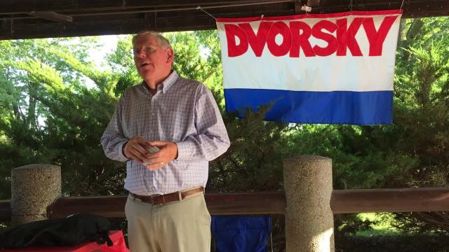 Dvorsky was first elected to the Iowa Senate in 1994. The Democratic state senator made the announcement at his annual birthday fundraiser in Coralville.