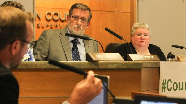 The Johnson County Board of Supervisors voted 5-0 Thursday night to deny the rezoning application from farmer Grant Schultz, who wanted to build a fish farm and cabins for agritourism.