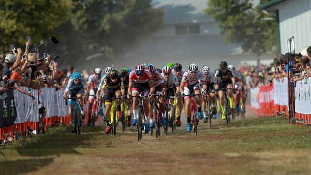 Having braved Mt. Krumpit, racers are bound for Waterloo, Wisconsin for the second leg of a nine-race, worldwide circuit.