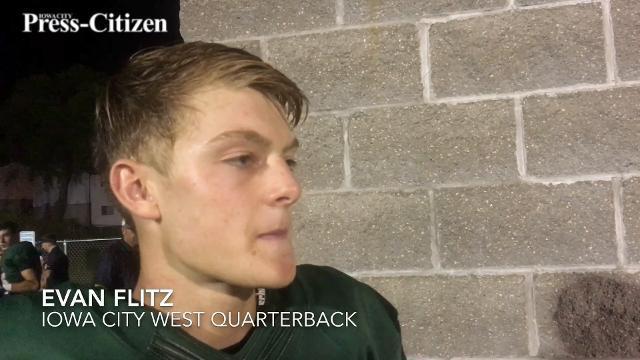 West QB Evan Flitz on the Trojans' win vs. CR Prairie