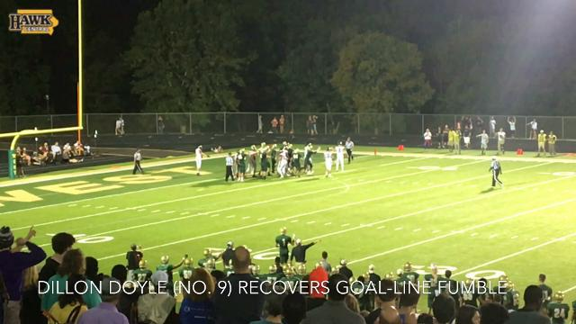Hawkeyes LB recruit Dillon Doyle recovers goal-line fumble