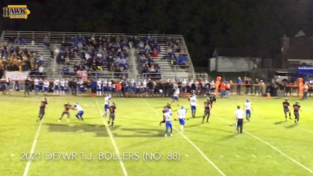 Freshman prospect T.J. Bollers nearly blocks punt. He visited Iowa last weekend and he'll visit Iowa State Oct. 28.