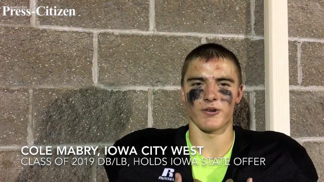 I.C. West safety/linebacker Cole Mabry discusses Iowa State offer, Iowa gameday visit