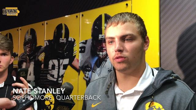 Nate Stanley discusses Iowa's slow-then-fast offense and Brandon Snyder's pick-six.