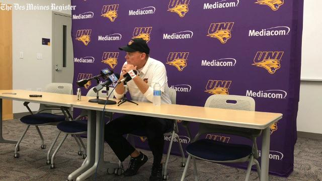 UNI coach Mark Farley discusses the Panthers' 38-29 loss to Western Illinois