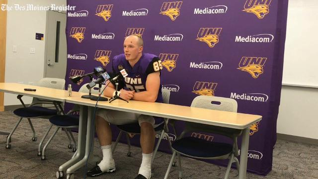 UNI tight end Elias Nissen talks about Saturday's loss and his 3-TD performance.