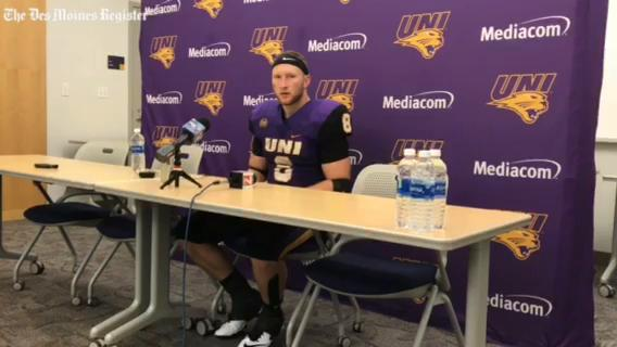 UNI running back Marcus Weymiller talks about another big day after Saturday's 19-14 win over Youngstown State.