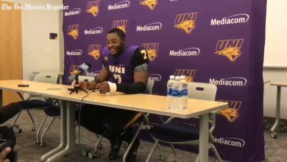 UNI LB Rickey Neal talks about the Panthers' stout defensive effort in Saturday's 19-14 win over Youngstown State.