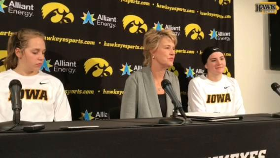 Iowa women's basketball coach Lisa Bluder talks about picking up career win No. 700 in Friday's 83-67 victory over Quinnipiac.