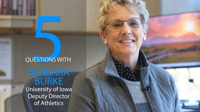 Get to know Barbara Burke, University of Iowa's deputy director of athletics and one of the Register's People to Watch.