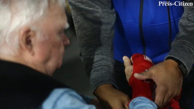 Emily Klinefelter and Clif Johnson lead a boxing class that addresses symptoms of Parkinson's Disease.