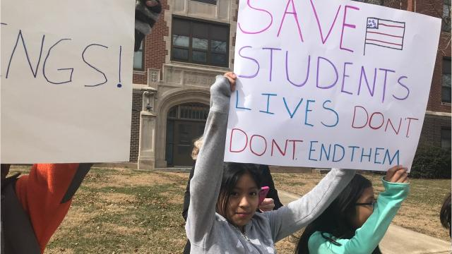 A group of Iowa City 10- and 11-year-olds are the latest students protesting for gun-violence prevention. One fifth grade class at Mann Elementary stood outside their school for 17 minutes Friday in honor of the 17 victims of the Parkland shooting.