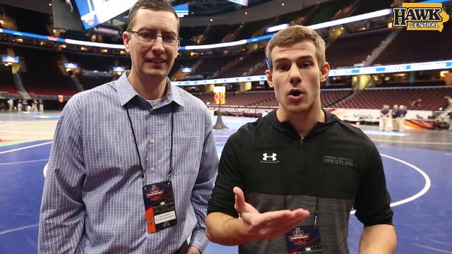 Des Moines Register's Chad Leistikow and Cody Goodwin look at the first session of the NCAA Wrestling Championships as Iowa starts off strong.
