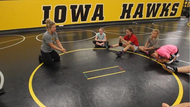 Iowa wrestling program's first-ever all-girls' summer camp.