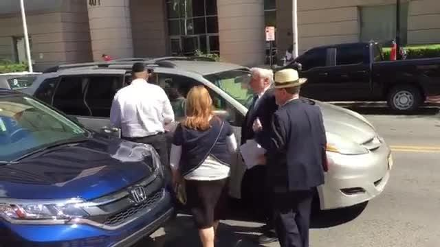 RAW VIDEO: Nussbaums leaving federal court in Trenton