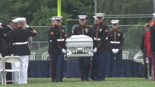 An emotional farewell to Colts Neck marine