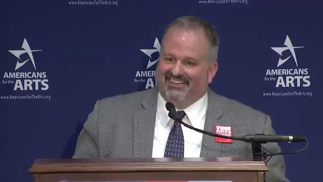 Morris Arts Executive Director Tom Werder speaks on behalf of Americans for the Arts during a Capitol Hill briefing in Washington. VIDEO COURTESY MORRIS ARTS/PRODUCED BY WILLIAM WESTHOVEN AUG, 4, 2017