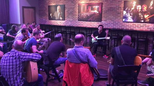 A few dozen guitar players enjoyed a master guitar class in Morristown with  Dweezil Zappa, son of guitar legend Frank Zappa, and a master guitarist in his own right. IPHONE VIDEO BY WILLIAM WESTHOVEN AUG. 2, 2017