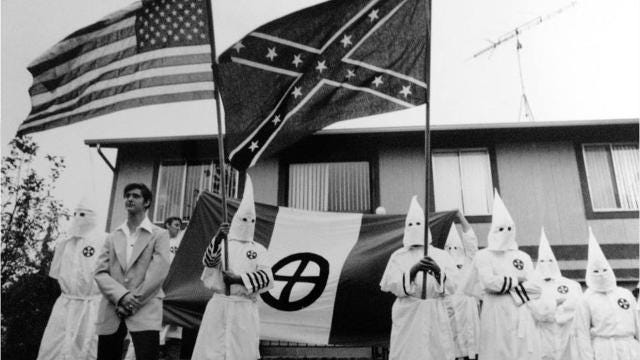 The Ku Klux Klan was welcomed at the Jersey Shore