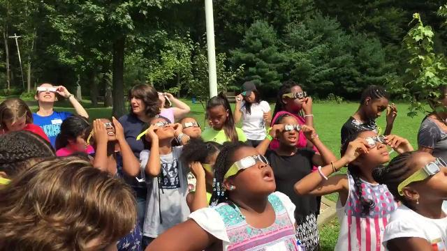 VIDEO: Morris views solar eclipse