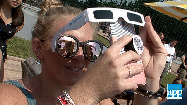 Thousands head to Bell Works in Holmdel to view solar eclipse