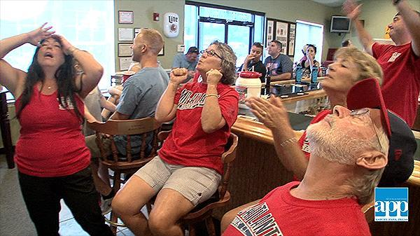 Holbrook fans applaud their Jackson Township team after Little League World Series loss