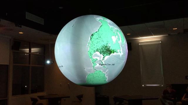 As another school year begins at Morristown Beard, students will have a fun new tool to play with, a massive display system globe that can be used to track weather patterns and other planetary data. 8/30/17