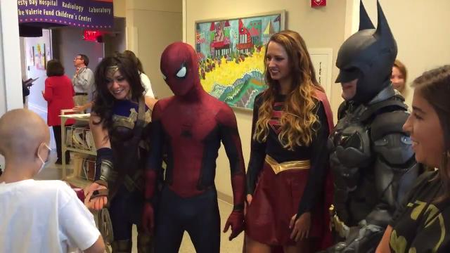 Superheroes took Thursday morning off from fighting crime to visit kids at Goryeb Children's Hospital on Aug. 31, 2017.