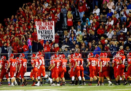 Walt Wormann of Stanhope, known as the Lenape Valley 'Sign Guy' has been been a one-man cheering section for the Patriots ever since his sons played for the team in the mid-nineties.