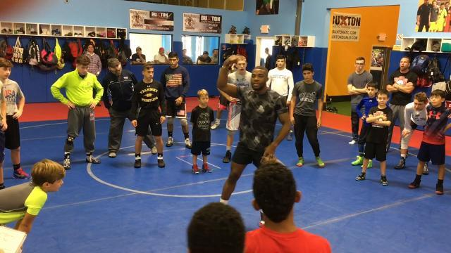 WATCH: Gold-medal wrestler inspires N.J youth