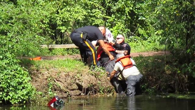 Franklin police rescued a 71-year-old Scotch Plains man from the Delaware and Raritan Canal.