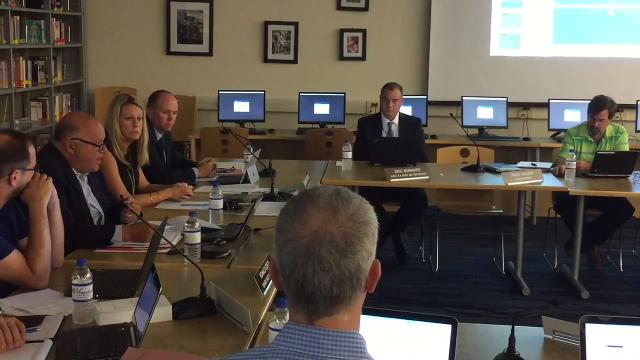Parents attended a Randolph Board of Education meeting to discuss students being pulled from the stands of a football game and ordered to undergo testing after being suspected of drinking alcohol. IPHONE VIDEO BY WILLIAM WESTHOVEN SEPT. 12, 2017
