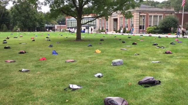 VIDEO: Fairleigh backpacks raise awareness of student suicides