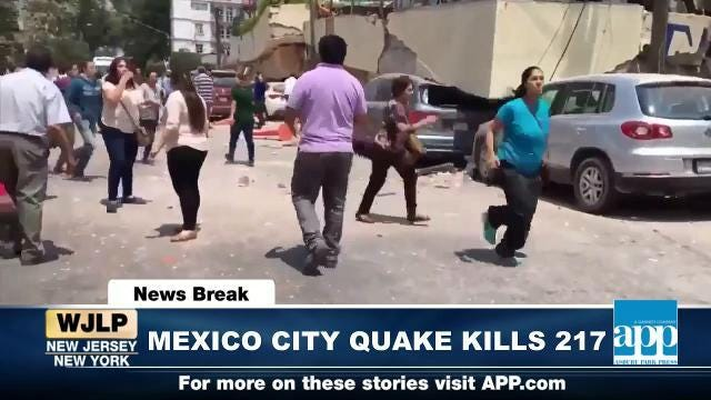 NewsBreak: Mexico City earthquake kills 217 people