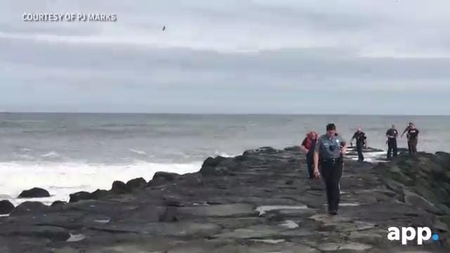 RAW VIDEO: Asbury Park police search for distressed swimmer