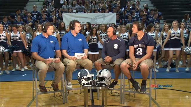 Middletown South's head coach and linebacker speak to hosts of the Red Zone Road Show