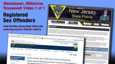 Registered Sex Offenders: Manalapan, Millstone and Roosevelt