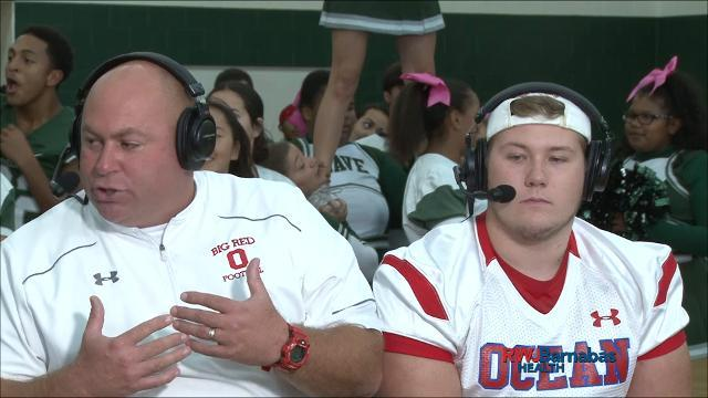 Red Zone Road Show: Ocean Township coach and guard are interviewed on set