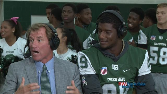 Red Zone Road Show: Long Branch coach and defensive end are interviewed on set