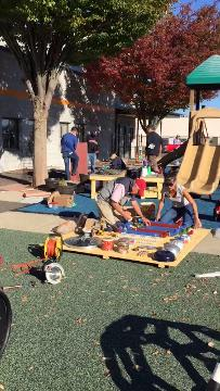 The Arc of Somerset County's Jerry Davis Center for Children and Families (JDCCF) received an installation of a much anticipated outdoor sensory activity classroom on Saturday, October 21st.