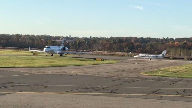 Medical professionals from the Robert Wood Johnson Barnabas Health and CareOne boarded jets Friday morning at Morristown Airport, bound for Puerto Rico to deliver essential supplies and services. IPHONE VIDEO BY WILLIAM WESTHOVEN OCT. 27, 2017